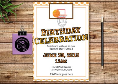 Birthday custom invitations