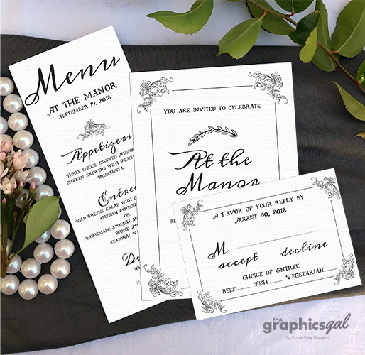 Custom invitations for events