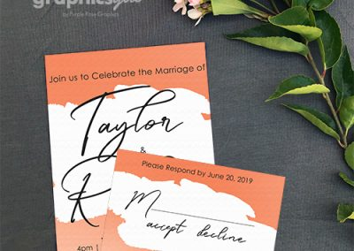 Wedding semi-custom invitations