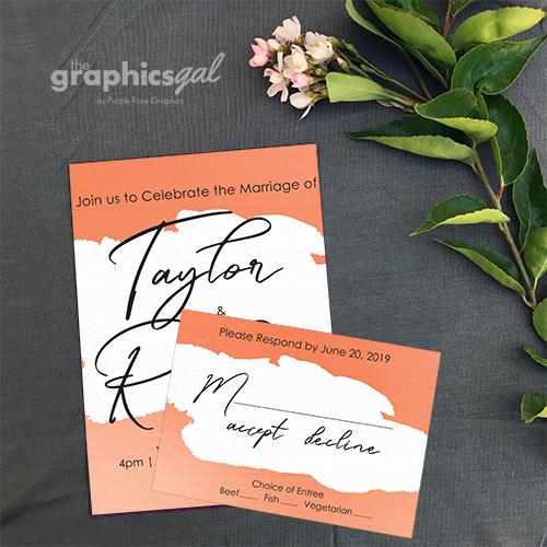 Wedding semi-custom invitations