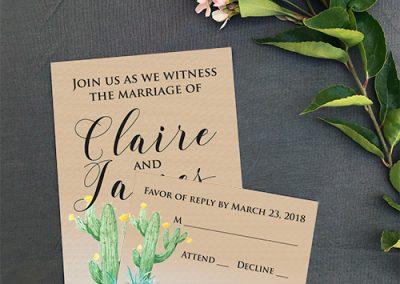 Wedding custom invitations