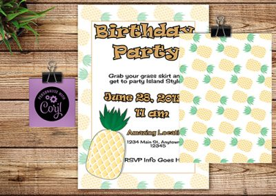 Birthday semi-custom invitations