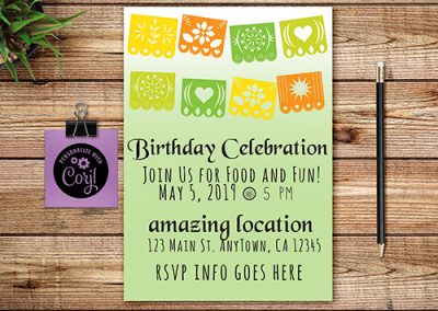 Papel Picado Theme Invite