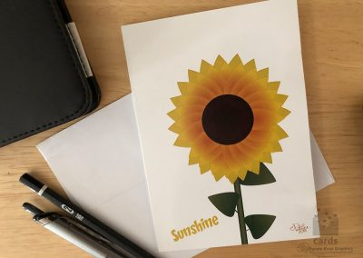Sunshine Sunflower Notecard
